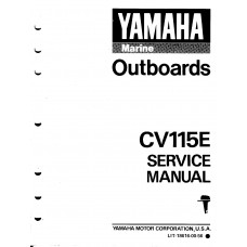 USED 1990 YAMAHA OUTBOARD SERVICE MANUAL CV115E, Part # LIT-18616-00-56