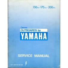 Used 1984 Yamaha Outboard Service Manual 150ETN, 175ETN & 200ETN - Part # LIT-18616-00-06