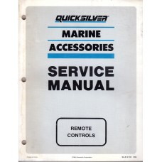 USED 1989 MERCRUISER / QUICKSILVER SERVICE MANUAL for Remote Controls   Part # 90-814705