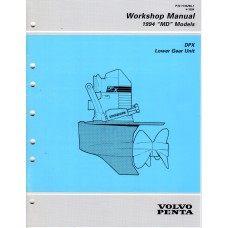 USED 1994 VOLVO SERVICE MANUAL for DPX LOWER GEAR UNIT  -  Part # 7735296