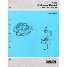 USED 1994 VOLVO SERVICE MANUAL for FORD FUEL SYSTEMS - Part # 7796457