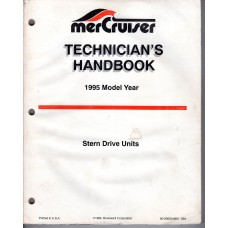 USED 1995 MERCRUISER TECHNICIAN'S Stern Drive Handbook Part # 90-806534950