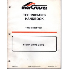 USED 1996 MERCRUISER TECHNICIAN'S Stern Drive Handbook Part # 90-806534960