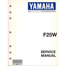USED 1998 YAMAHA OUTBOARD SERVICE MANUAL F25W -  LIT-18616-01-77
