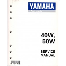 USED 1999 YAMAHA OUTBOARD SERVICE MANUAL  40W, & , 50W - Part # LIT-18616-01-81