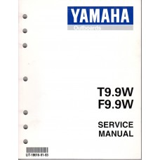 USED 1998 YAMAHA OUTBOARD SERVICE MANUAL T9.9W & F9.9W - LIT-18616-01-83