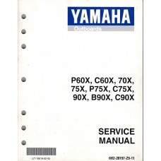 USED 1999 Yamaha Service Manual for P60X, C60X, 70X, 75X, P75X, C75X, 90X, B90X & C90X # LIT-18616-02-05