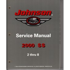 USED 2000 Johnson Service Manual 2 thru 8 hp - Part # 787066