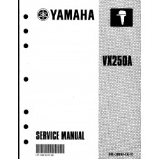 USED 2002 YAMAHA SERVICE MANUAL for VX250A  Part # LIT-18616-02-28