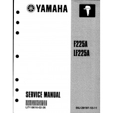 USED 2002 YAMAHA SERVICE MANUAL for F225A Part # LIT-18616-02-36