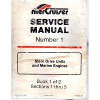 USED  Number 1 Service Manual for Mercruiser Stern Drive and Marine Engines  -  Part # 90-68648