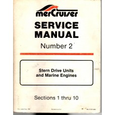 USED  Number 2 Service Manual for Mercruiser / Mercury Marine Stern Drive Units and Marine Engines - Part # 90-71707