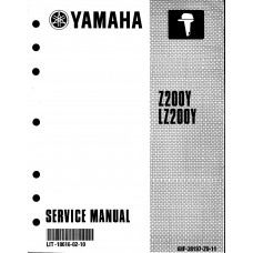 USED 2000 Yamaha Service Manual Z200Y & LZ200Y - Part # LIT-18616-02-10