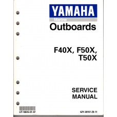 USED 1999 Yamaha Service Manual F40X, F50X, T50X - Part # LIT-18616-02-97